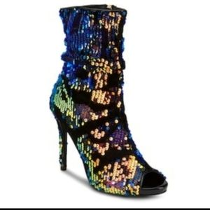 New With Tags Olivia Miller Sequin High Heel Boots